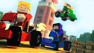 Minecraft| CORRIDA DOS CHUMADORES! Build Battle (Pac, Mike, Jv, Moon)