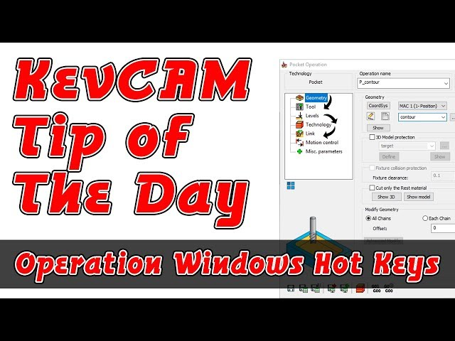 Tip of the Day - Operation Window Hot Keys