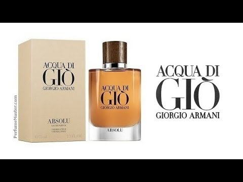 Giorgio Armani Acqua Di Gio Absolu Fragrance Youtube