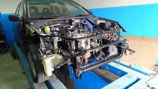 Mitsubishi Lancer 9. повреждения. разборка.