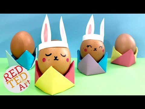 Easy Easter Origami Egg Cup - Easter Table Setting Ideas - DIY Origami Egg Holder Tutorial