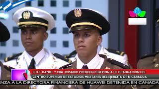 Pdte. Daniel y Cra. Rosario presiden ceremonia de graduación del Ejército de Nicaragua
