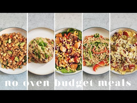 NO OVEN VEGAN MEALS UNDER £1 ($1.50) | Student and Microwave Friendly!