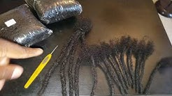Sample loc extensions, loc bundles, and Afro kinky human hair!