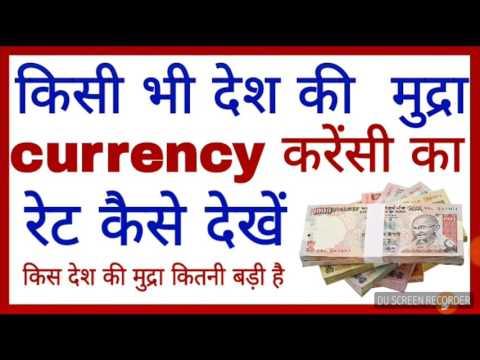 किसी भी देश की मुद्रा (currency) का रेट कैसे देखें
