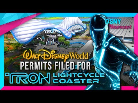 New Details & Permits of Walt Disney World's TRON Rollercoaster - Disney News - 11/21/17