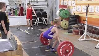Фёдоров Кирилл, 9 лет, собст  вес 26 кг Тяга рыв  без подр   15 кг Новичок