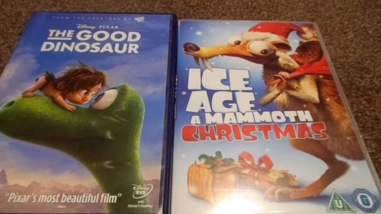 the good dinosaur and ice age a mammoth christmas uk dvd unboxing youtube. Black Bedroom Furniture Sets. Home Design Ideas