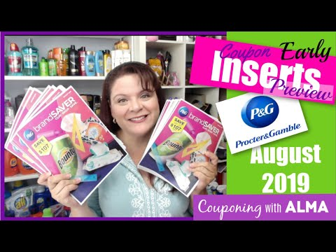 EARLY August 2019 P&G Coupon Insert Preview