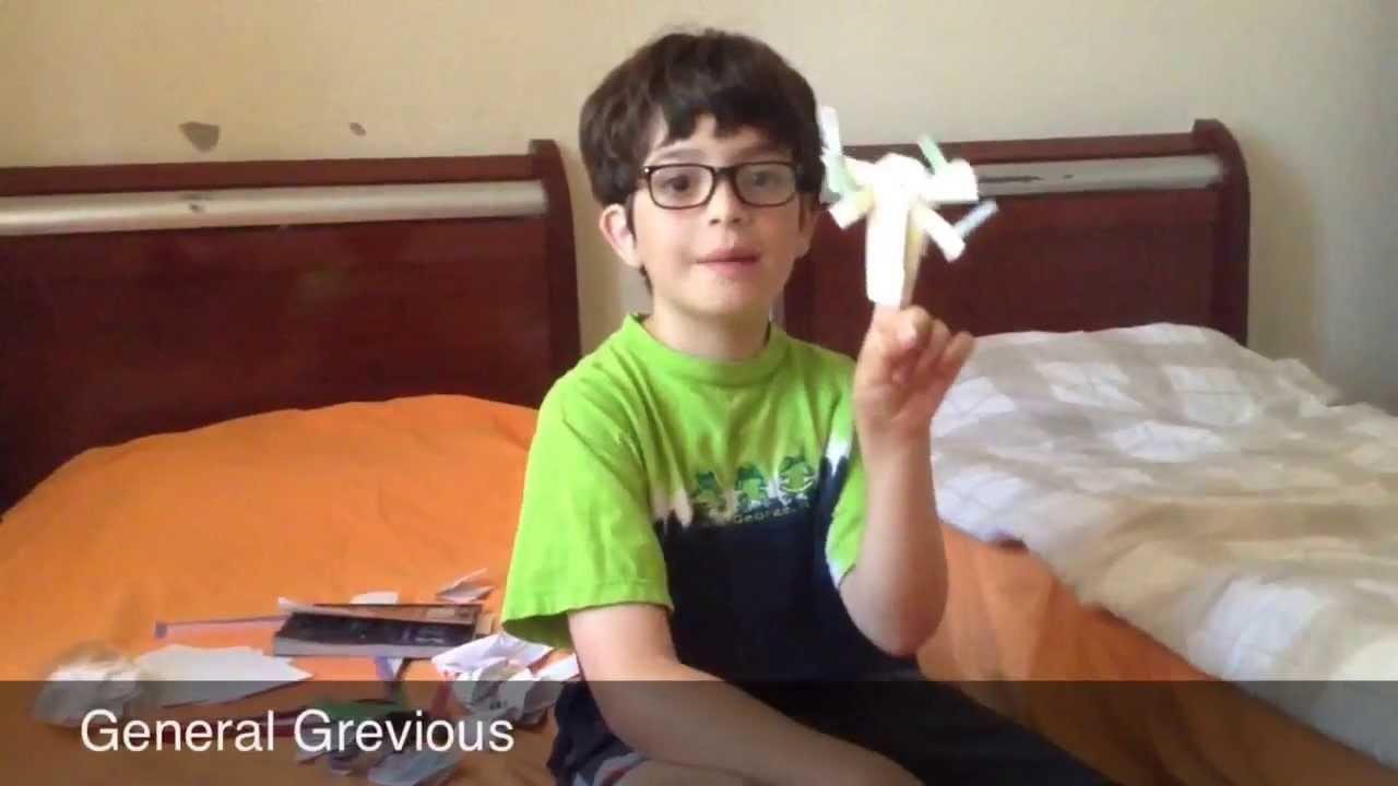 Origami Yoda Finger Puppet Video