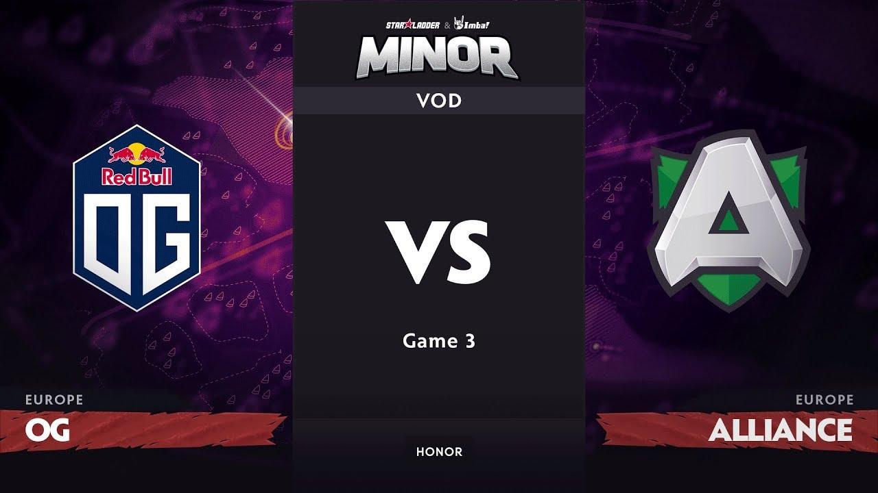 [RU] OG vs Alliance, Game 3, EU Qualifiers, StarLadder ImbaTV Dota 2 Minor