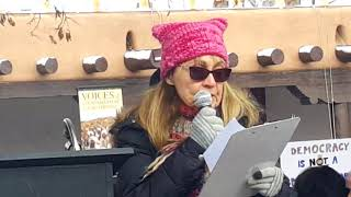 2018 Santa Fe New Mexico Women's March - Santa Fe NOW President Rebecca Langford