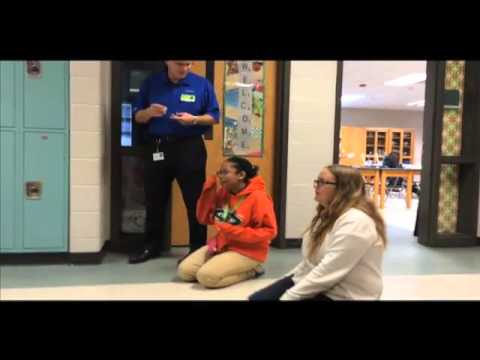 Girls Stem Club at Holly Shelter Middle School