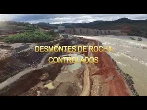 UHE São Roque   Desmontes De Rocha Controlados - ENGEVIX CONSTRUÇÕES