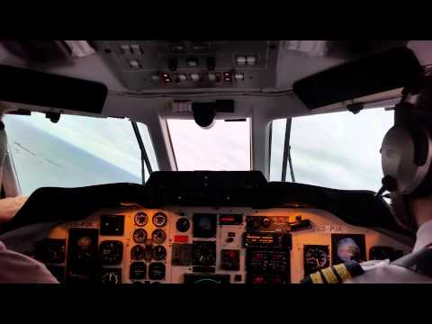 Jetstream 31 Cockpit takeoff from Kuressaare