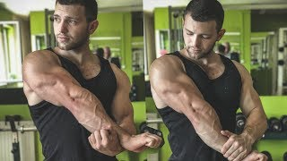 Biggest arms in 21 years old | awesome aesthetic and big pumped muscles