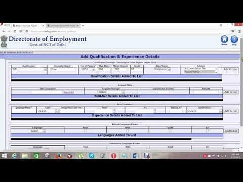 registration of directorate of employment