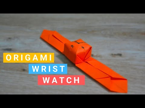 Origami Wrist Watch || DIY Paper Craft Watch || Easy Origami Life Hacks