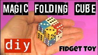 FOLDING FIDGET CUBE TOY - MAGIC CUBE - DICE TOY - DIY FIDGET TOYS - STRESS TOYS
