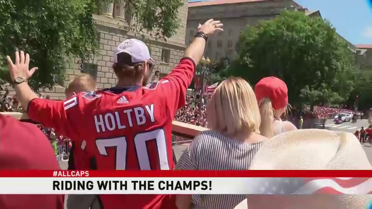 Download ABC7 News rides with the Stanley Cup champion Caps on parade bus