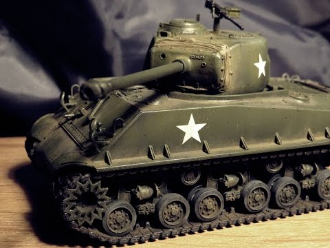 Hobby Boss: Sherman M4A3E8 1:48 scale (complete build)
