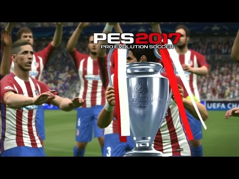 PES 2017 UEFA Champions League Final Atletico Madrid vs Barcelona (Penalty Shootout)