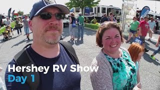 Hershey RV Show Day 1 | Full-time RV Family | Five 2 Go Ep. 2