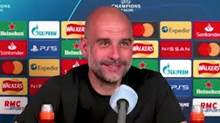 Pep Guardiola - PSG v Man City - Pre-Match Press Conference - Champions League Semi-Final