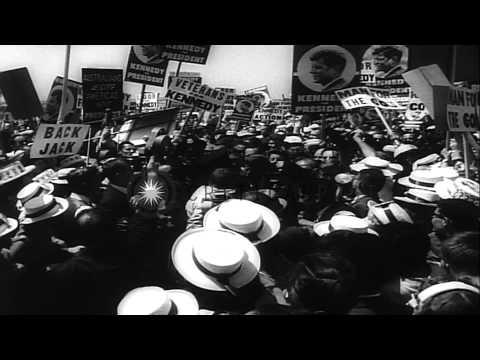 Senator Frank Church addresses the delegates at the Democratic convention of 1960...HD Stock Footage