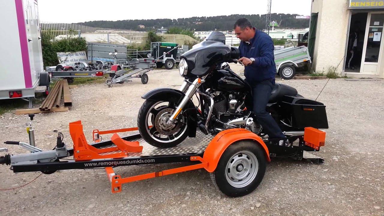 Porte moto pour grosses cylindr es harley davidson youtube for Porte u moto