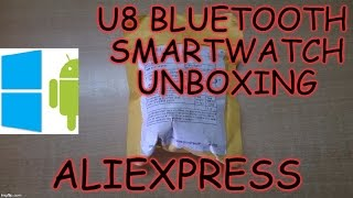 287) Cheapest 10$ U8 bluetooth smartwatch unboxing & hands on(aliexpress)