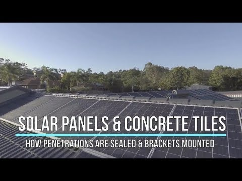 Solar panels on a tile roof - how your roof is sealed