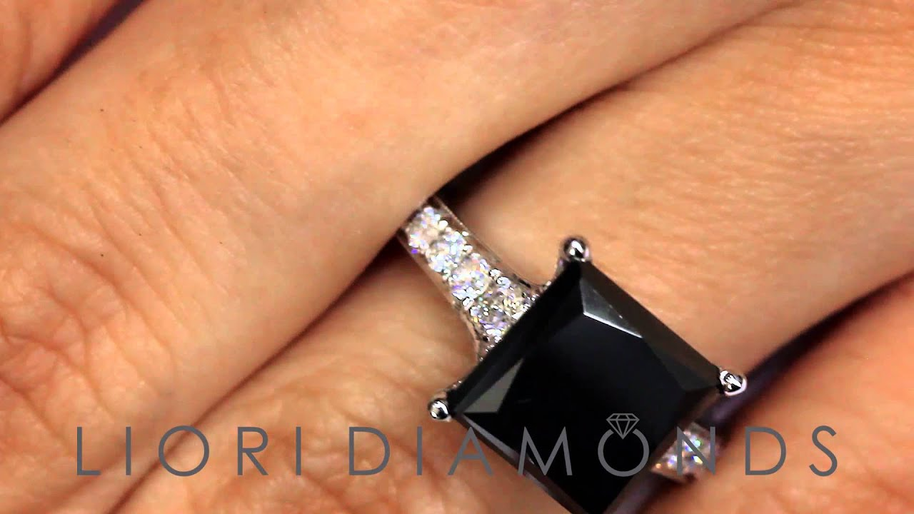 BDR SOLD 071 4 76 Carat Princess Cut Natural Black Diamond