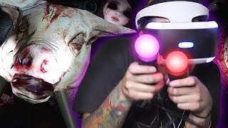 GHOSTS , PIGS & JUMPSCARES - UNTIL DAWN RUSH OF BLOOD ( Playstation VR )