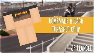 ROBLOX Speed Design - Homemade Bleached Thrasher Crop Top - Jeillancee