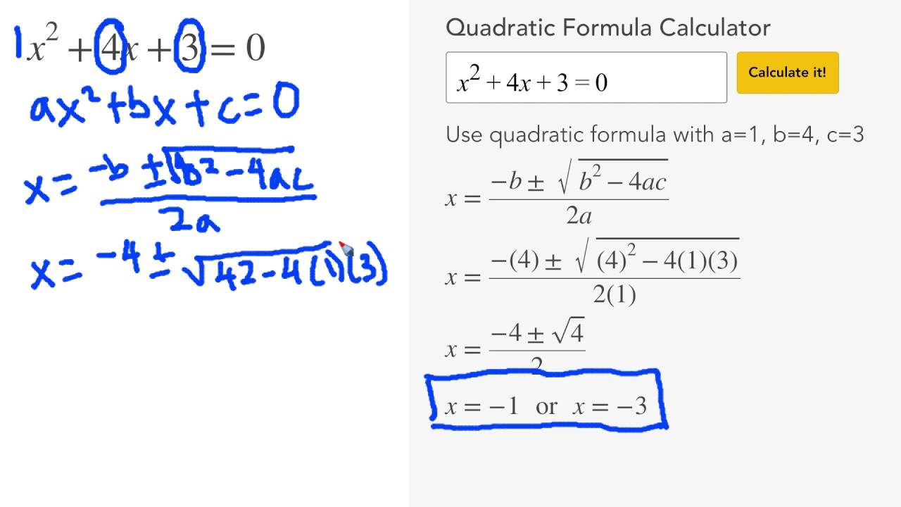 Quadratic Formula Calculator - MathPapa