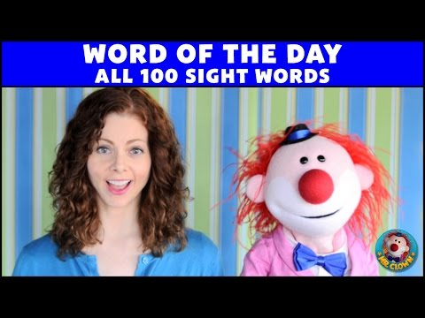 1st 100 Sight Words - Mr. Clown's Word of the Day