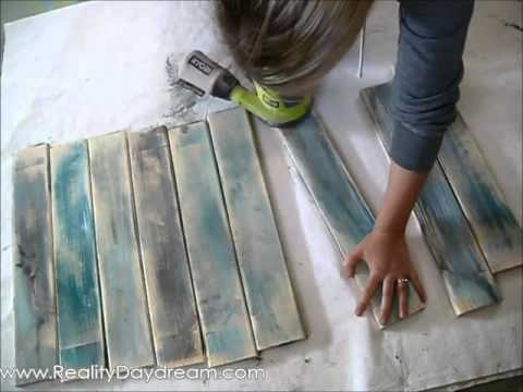 Make new wood look like old distressed barn boards {Reality Daydream}