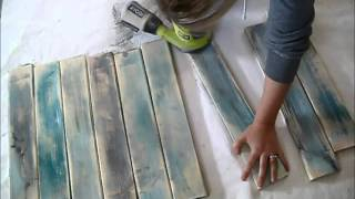 Make new wood look like old distressed barn boards Reality Daydream