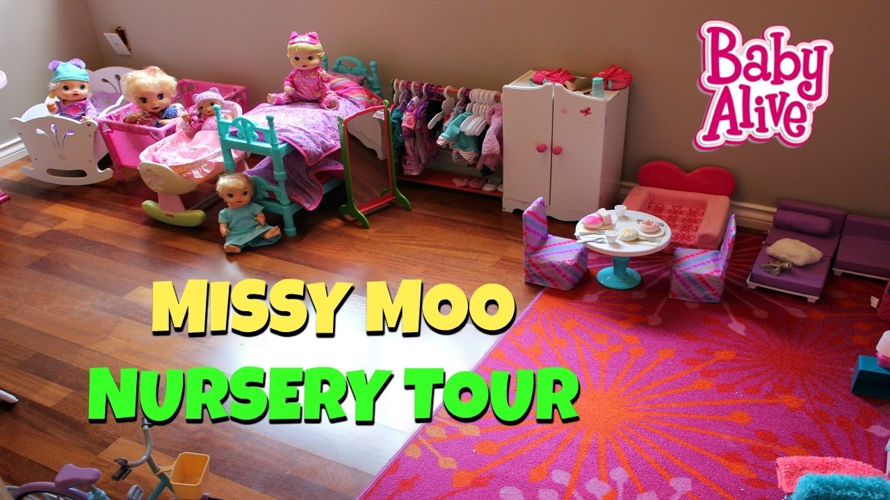 Baby Alive House Large Nursery Center Doll Tour Youtube