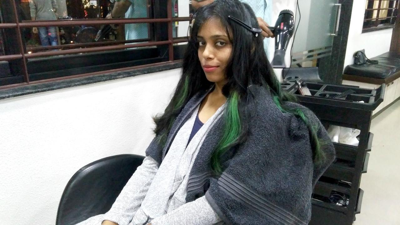 my green hair new hair makeover - vlog, surat restaurant review