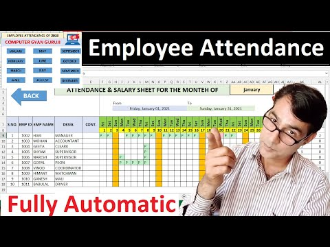 How To Make An Automated Attendance Sheet In Excel | Attendance And Salary Sheet In Excel In Hindi