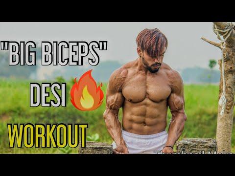 Big Biceps Desi Workout In Desi Gym