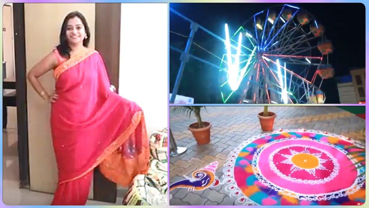 Karvachauth Ke Din Carnival Ustav se Leke Diwali Mela Tak #vlog #diwaligift - Indian Mom On Duty