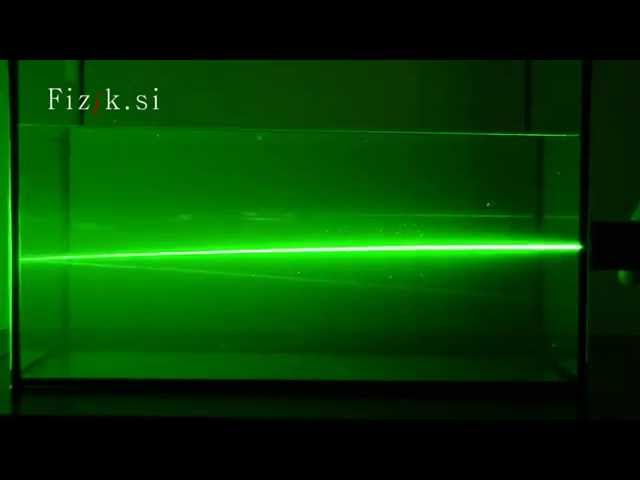 Bending the light II - science experiment