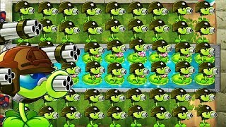 Plants vs Zombies 2 PC Gatling Pea Gameplay - Survival Pool