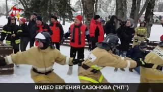 Владимир Пучков болеет за курсантов на соревнованиях Всероссийского пожарно-спасатального флешмоба