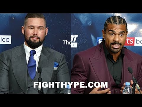 DAVID HAYE AND TONY BELLEW GO AT IT; ARGUE AND TRADE WORDS AFTER HAYE ADMITS TO BEING HUMBLED