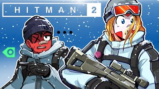 SNIPING IN THE COLD - Hitman - SNIPER ASSASSIN CO-OP WITH CARTOONZ!