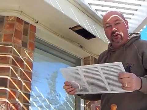 How To Install A Soffit Vent Youtube